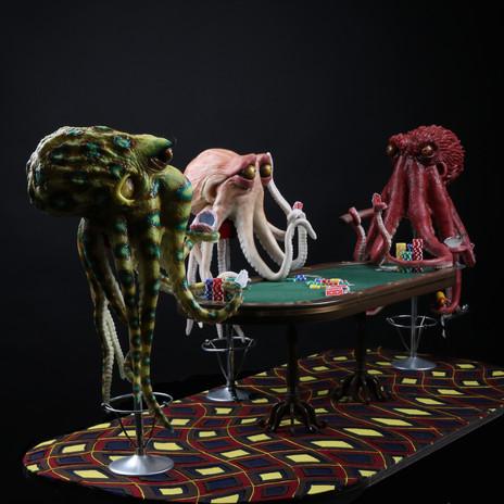 Octopus Playing Poker