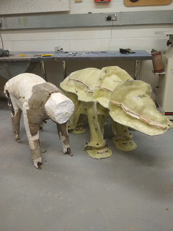 The initial sculpt and the mould
