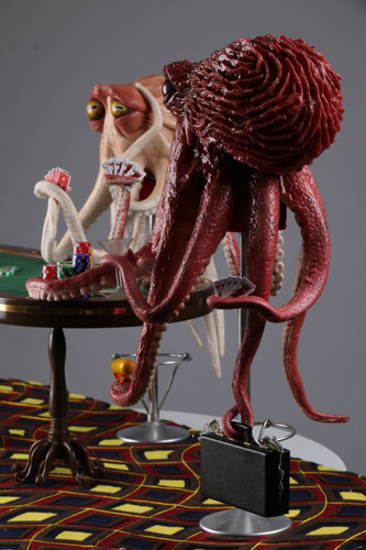 Octopus Playing Poker