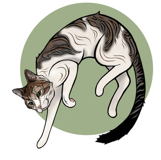 Digital Cat Illustration
