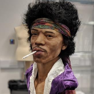 Jimi Hendrix Silicone Bust