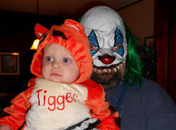 Tigger and Scary Clown