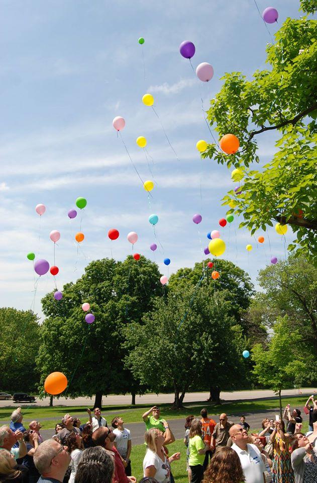 Beautiful Balloon Release