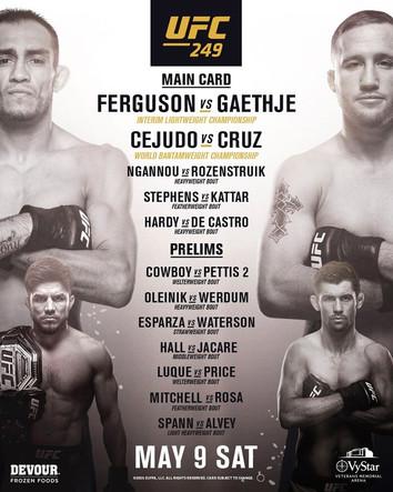 MMAblogg's vinnertips UFC 249!
