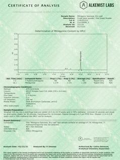 Certificate of Analysis