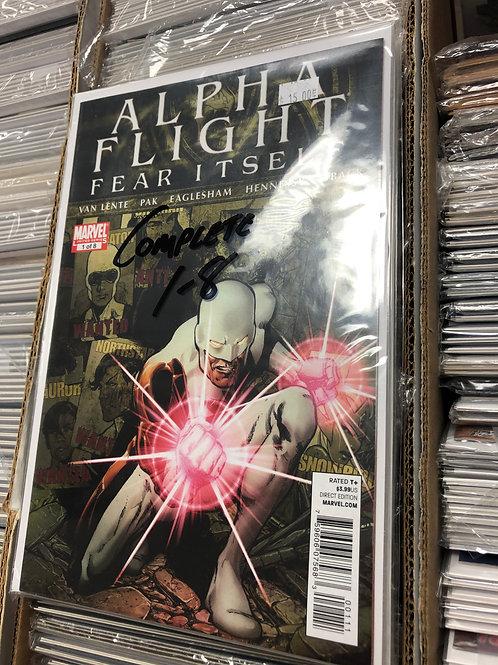 Alpha Flight Fear Itself 1-8