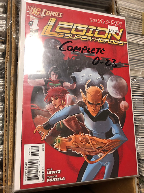 Legion of Superheroes New 52 0-23 (#1 is 2nd print)