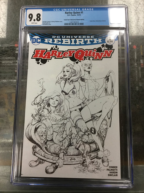 Harley Quinn Rebirth 1 CGC 9.8 Joe Benitez Sketch Cover
