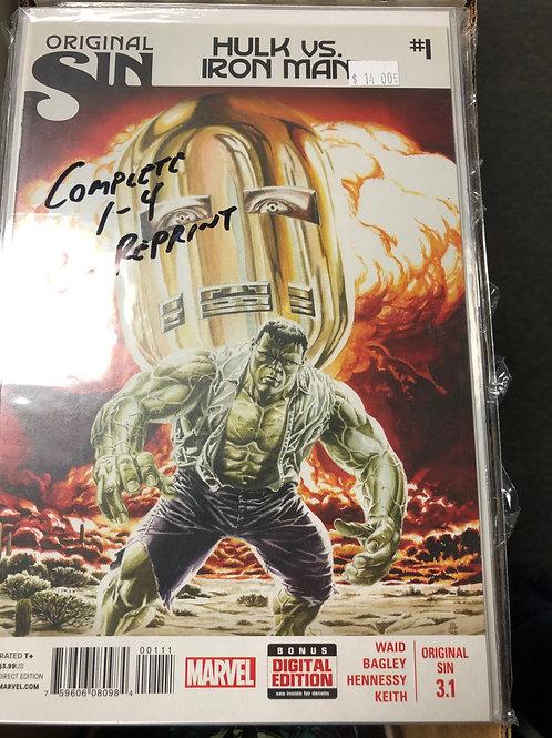 Original Sin Hulk Vs Iron Man 1-4 Plus Reprint