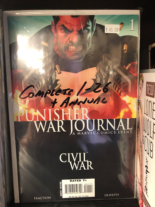 Punisher War Journal Complete 1-26 Plus Annual