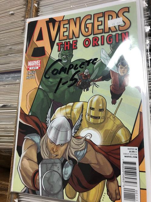 Avengers The Origin 1-5