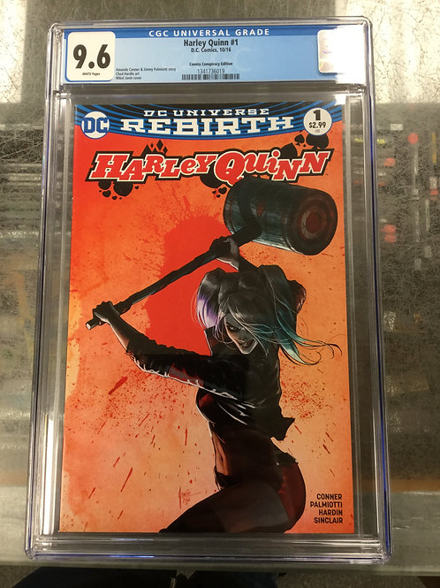 Harley Quinn Rebirth 1 CGC 9.6 Mikel Janin Cover