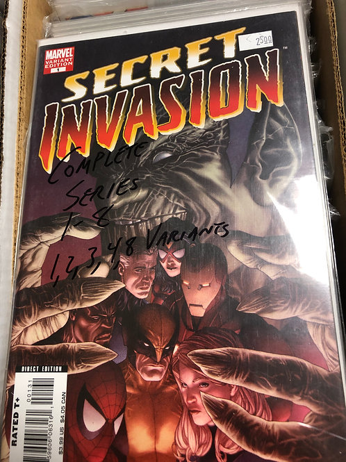 Secret Invasion 1-8 (Variants of issues 1, 2, 3, 4, 8)