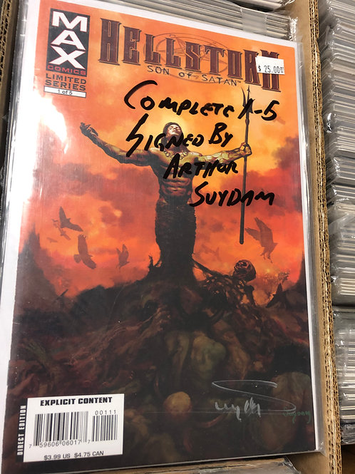 Hellstorm 1-5 18+ Signed by Arthur Suydam