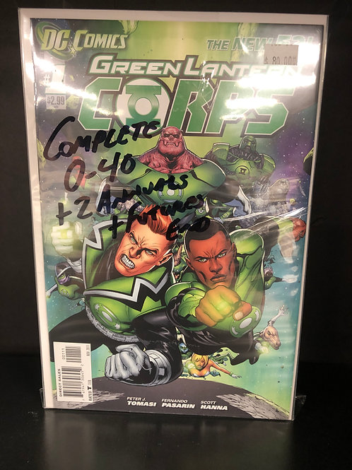 Green Lantern Corps New 52 0-40 Plus 2 Annuals & Future's End