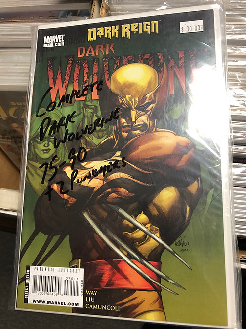 Dark Wolverine Complete 75-90 Plus 2 Punisher Tie Ins