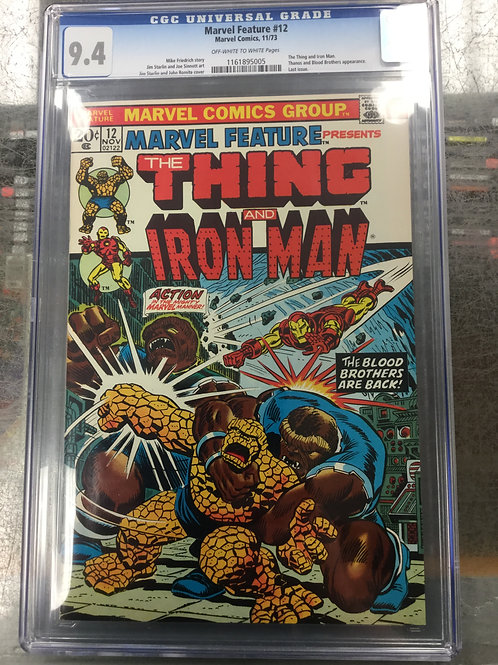 Marvel Feature 12 CGC 9.4 Early Thanos