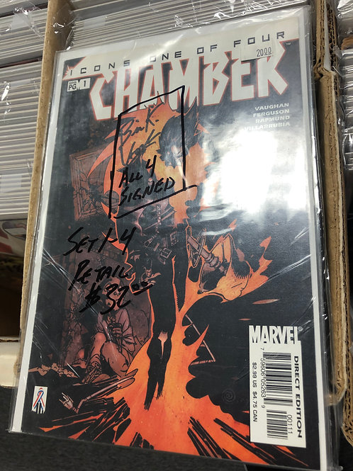 Chamber 1-4 All Signed by Brian K. Vaughan