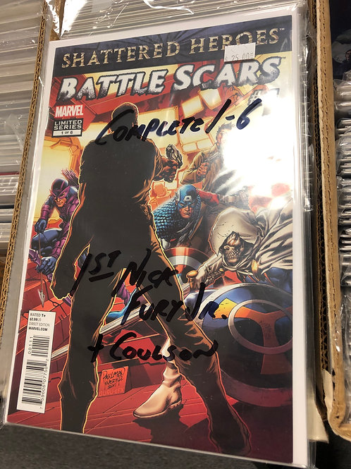 Battle Scars 1-6 1st Appearance Nick Fury Jr. & Agent Coulson