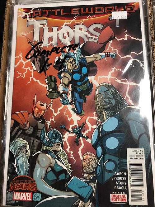 Secret Wars Battleworld Thors 1-4