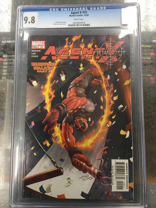 Agent X 15 CGC 9.8 Deadpool Cover