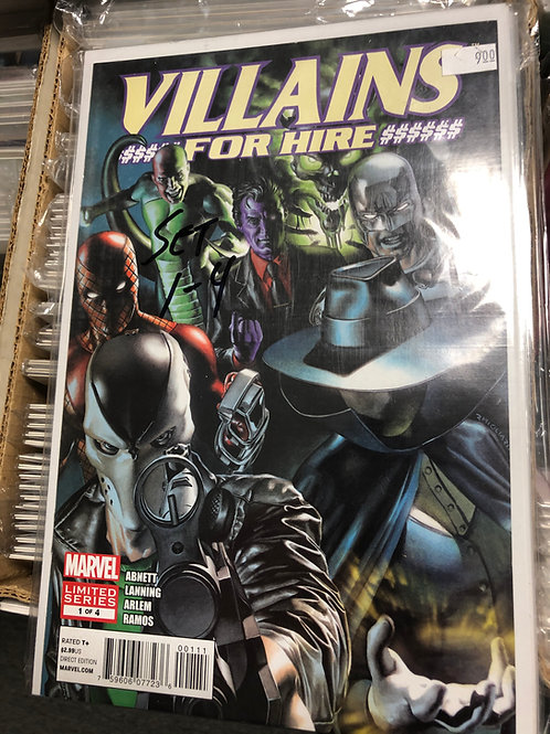 Villains For Hire 1-4