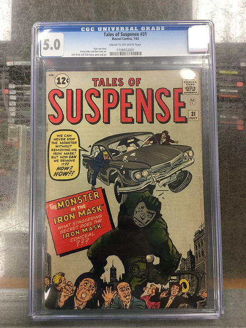 Tales of Suspense 31 CGC 5.0 Dr. Doom Try Out