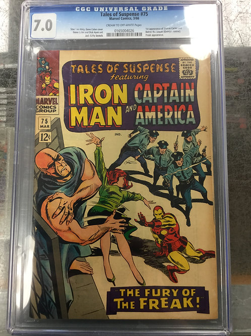Tales of Suspense 75 CGC 7.0 1st Sharon Carter and Batroc the Leaper