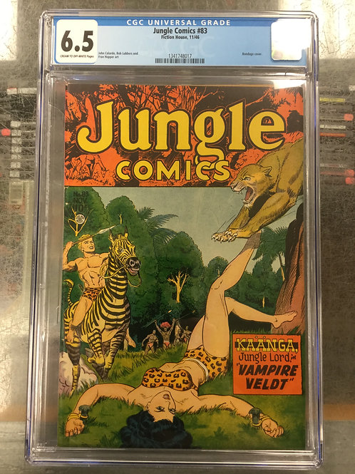 1946 Jungle Comics 83 CGC 6.5 Bondage Cover