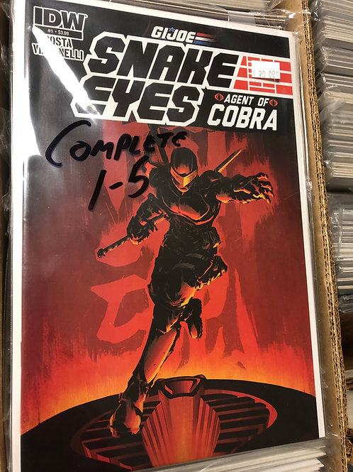 G.I. Joe Snake Eyes Agent of Cobra 1-5