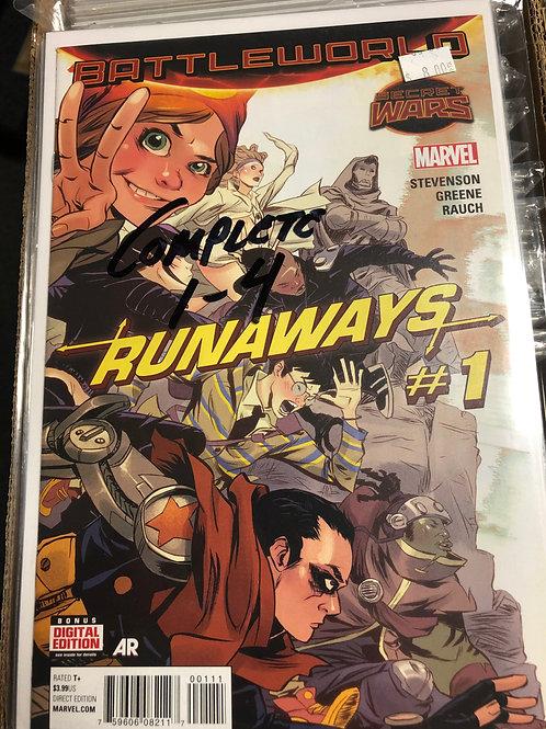 Secret Wars Runaways 1-4
