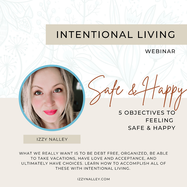 Intentional Living Webinar
