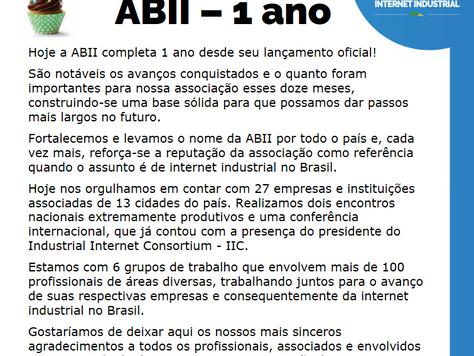 ABII - 1 ano!