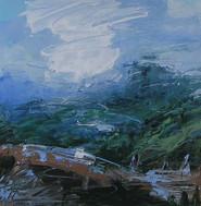 Dashing Cloud over Blue Hills