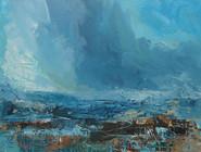 Blue and Umber Landscape No 2.