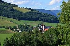 Blick auf das Kloster in St. Lambrecht