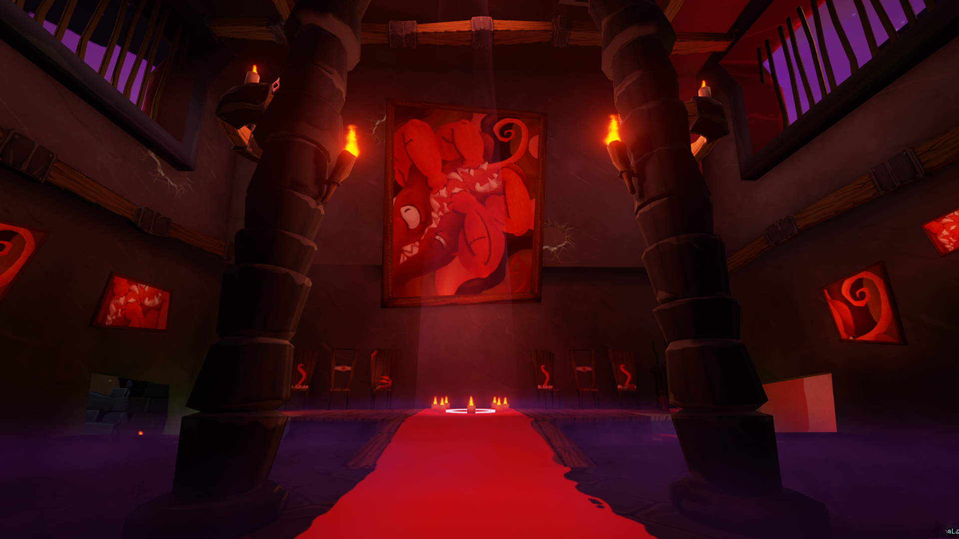 Red Base Mural