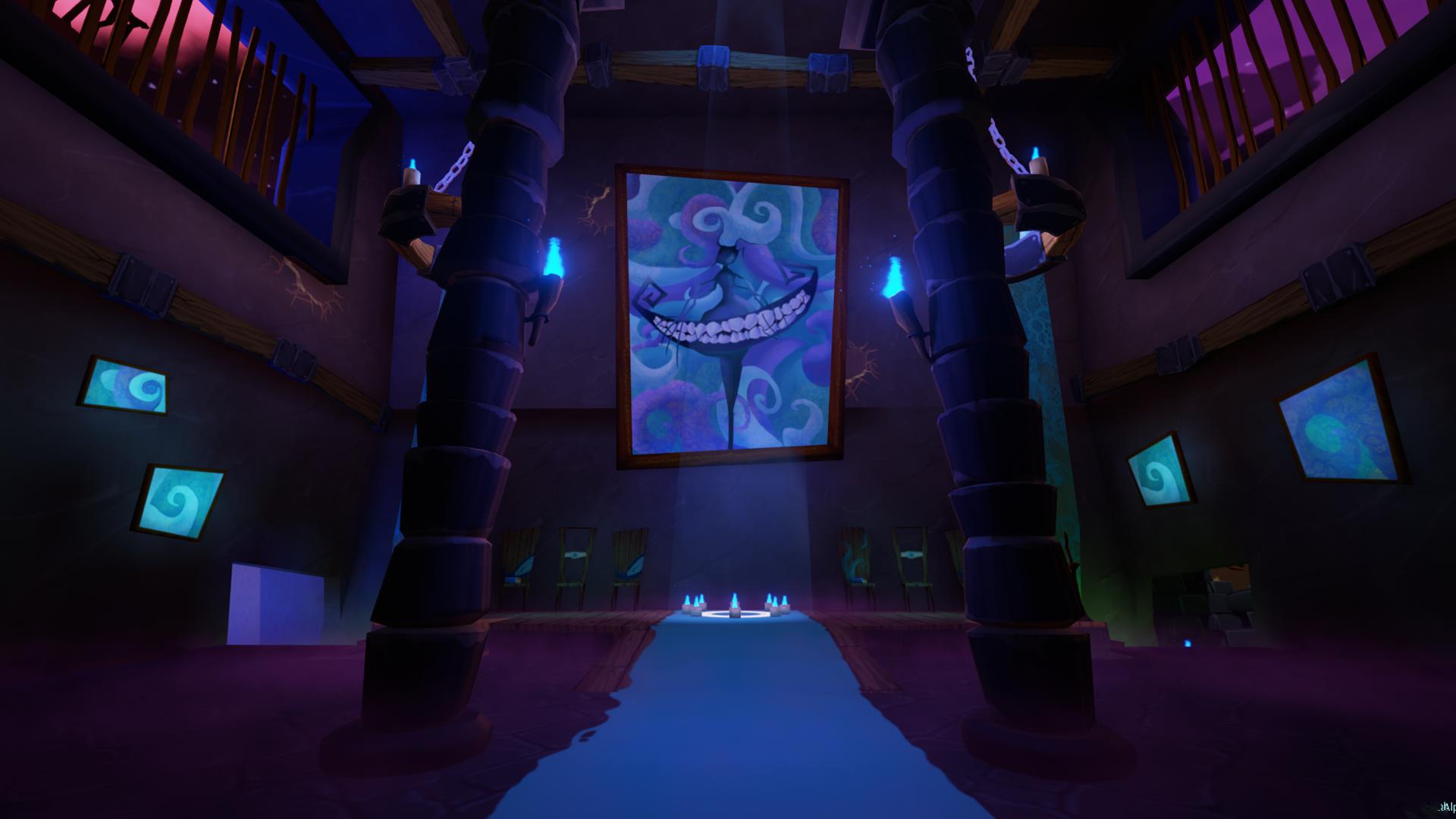 Blue Base Mural