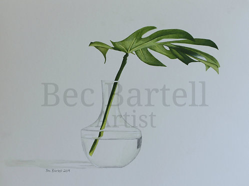 Tropical Leaves 1 Mini Poster Print