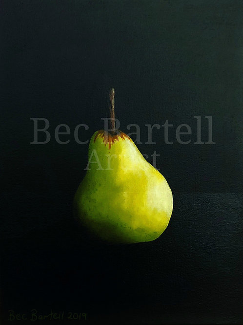 Pear Mini Poster Print