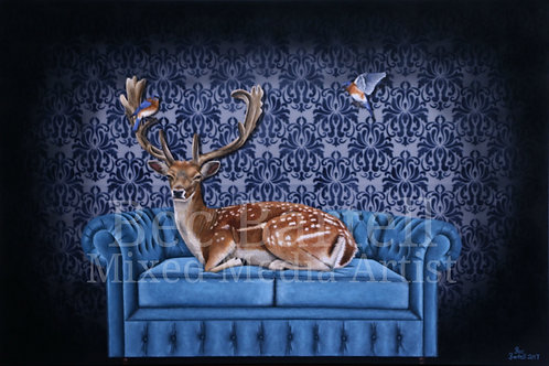 Creature Comforts Fine Art Print A3