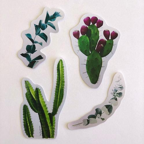Eucalyptus and Cactus Sticker Pack
