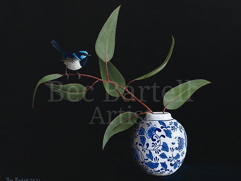 Little Bird Branch Fine Art Print A3