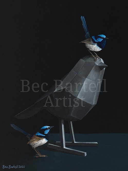 Metal Feathers Fine Art Print A3