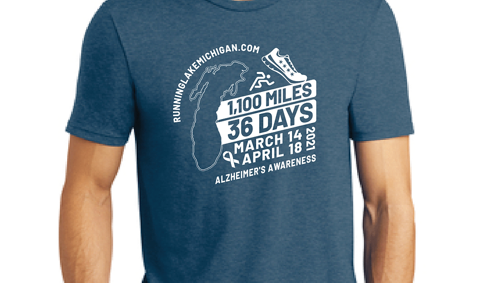 T-Shirt (Unisex)   Running Lake Michigan