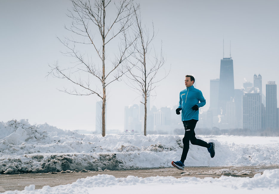 Running Lake Michigan - Chicago Winter C