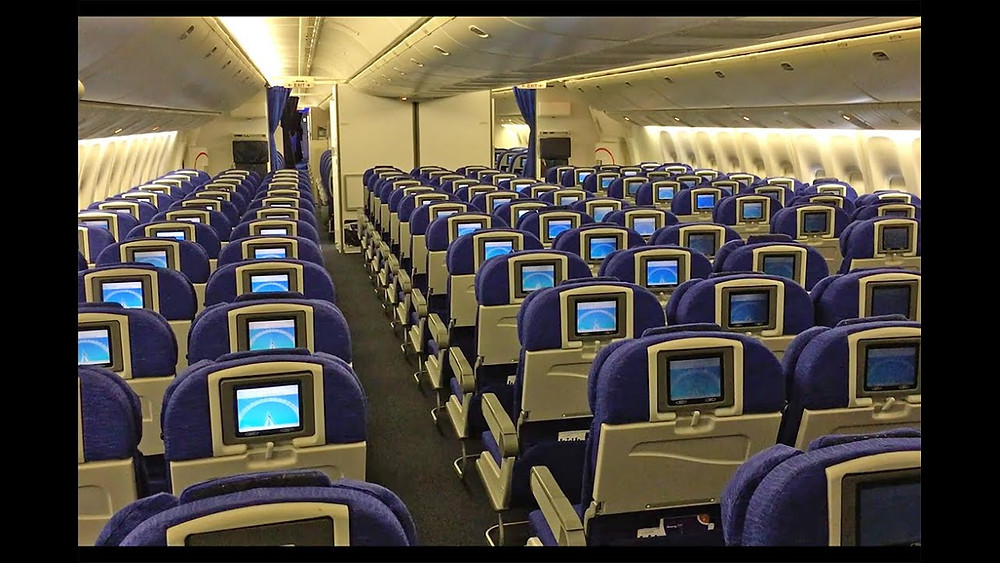 "British Airways ""World Traveller"" Economy class"