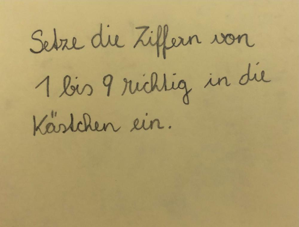 Post-it German handwritten