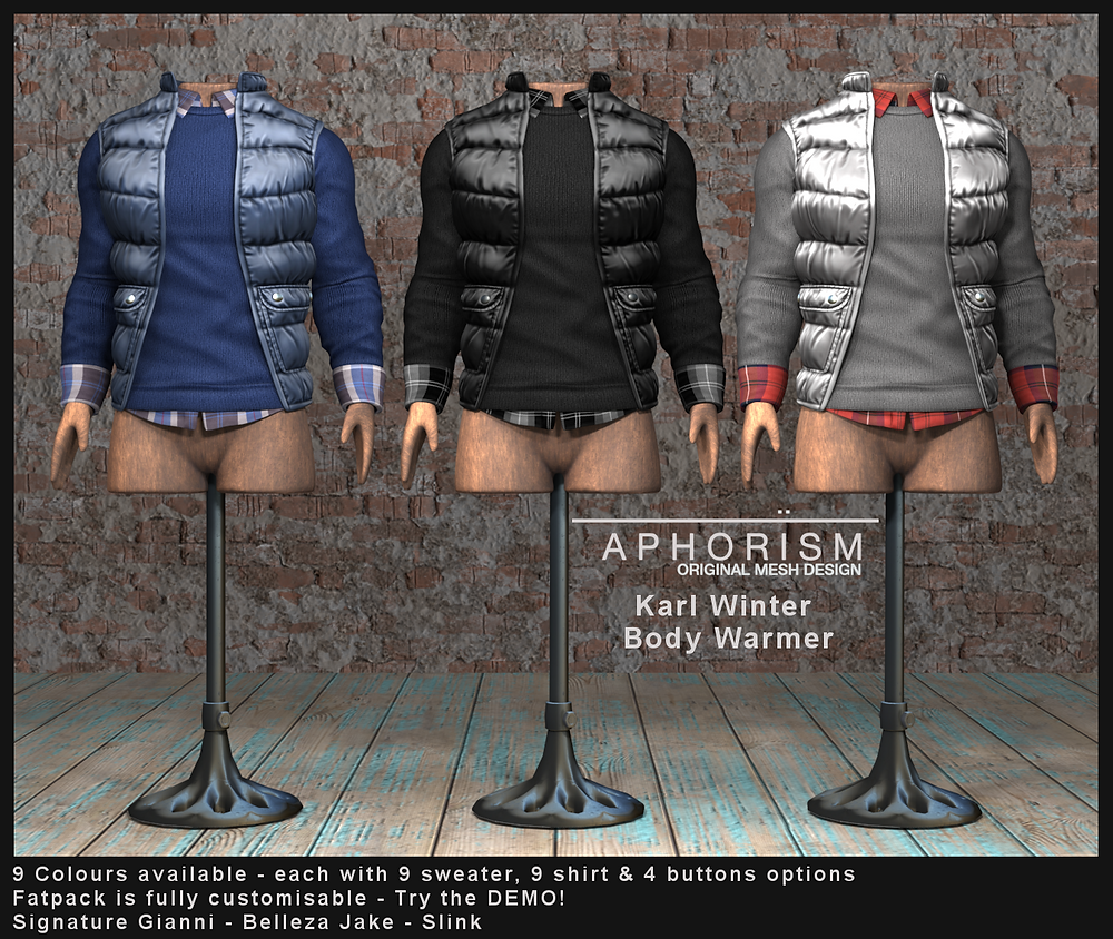 aphorism karl body warmer second life