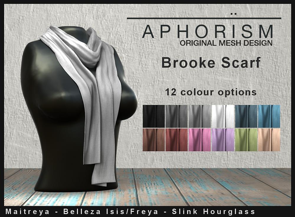 !APHORISM! Brooke scarf second life
